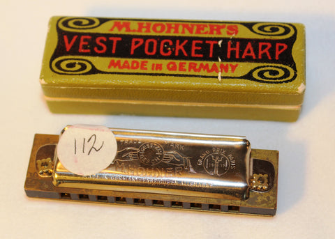 Sonny Terry Estate Harmonica - Hohner Vest Pocket Harp - Item # 112 Key of G#