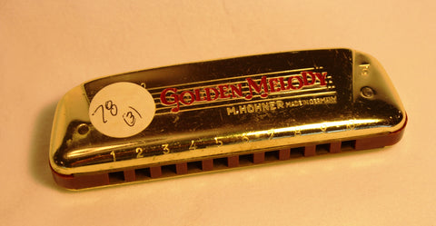 Sonny Terry Estate Harmonica - Golden Melody Item #78(03)  Key of F