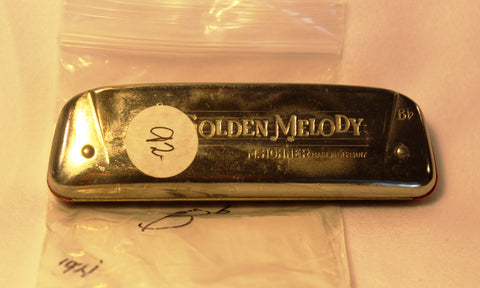Sonny Terry Estate Harmonica - Golden Melody Item #92  Key of Bb
