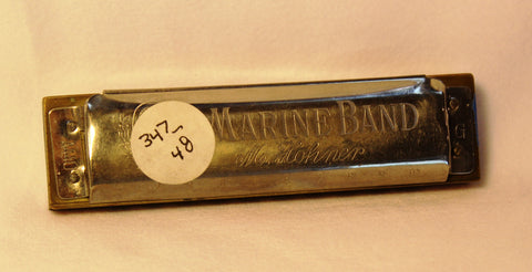 Sonny Terry Estate Harmonica - Marine Band #347-48 Key of G