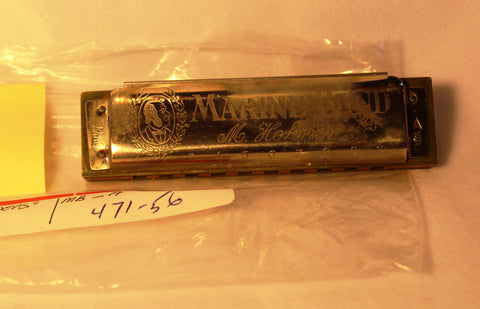Sonny Terry Estate Harmonica - Marine Band #471-56 Key of A