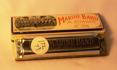 Sonny Terry Estate Harmonica - Marine Band #172-73 Key of C