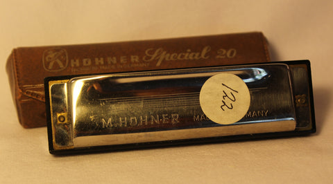 Sonny Terry Estate Harmonica - Hohner Marine Band Special 20 - Item # 122  Key of B