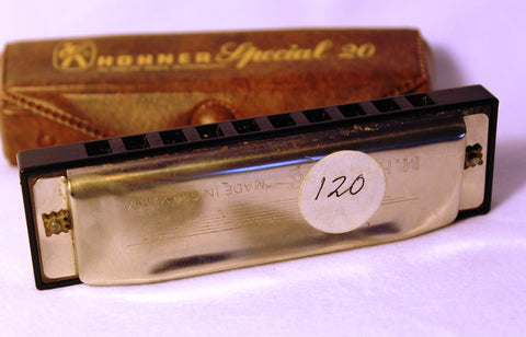 Sonny Terry Estate Harmonica - Hohner Marine Band Special 20 - Item # 120  Key of A