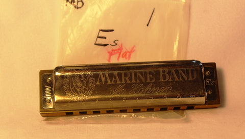 Sonny Terry Estate Harmonica - Marine Band #333-34 Key of Es (Eb)