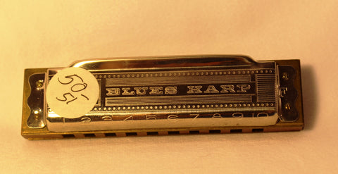 Sonny Terry Estate Harmonica - Hohner Blues Harp #50-51  Key of F