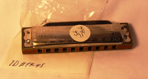 Sonny Terry Estate Harmonica - Hohner Blues Harp #44-45 Key of Db