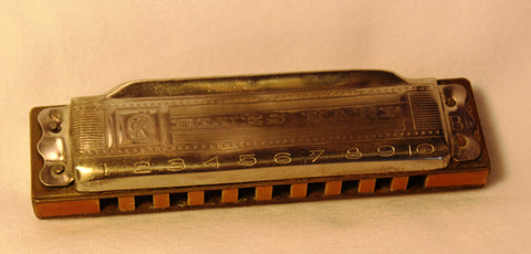 Sonny Terry Estate Harmonica - Hohner Blues Harp #36-37 Key of B