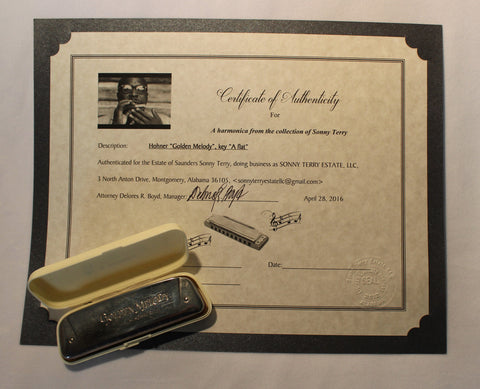 Sonny Terry Estate Harmonica - Golden Melody #58
