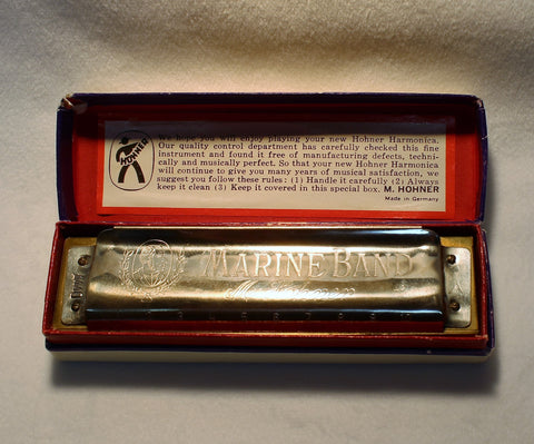 Sonny Terry Estate Harmonica - Marine Band # 128-29  Key of A