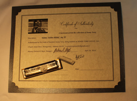 Sonny Terry Estate Harmonica - Marine Band # 204-25