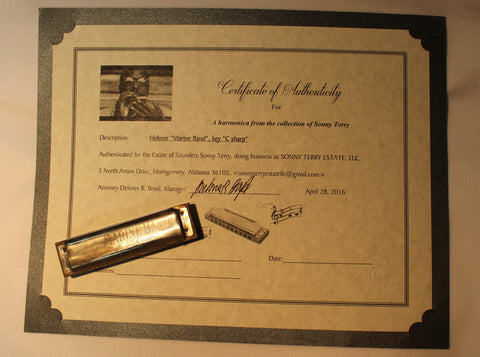 Sonny Terry Estate Harmonica - Marine Band # 174-75