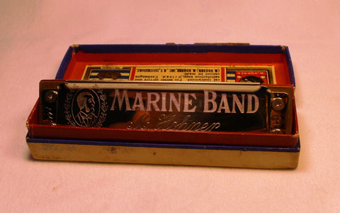 Pre-War Marine Band in E - Ruby Water Comb