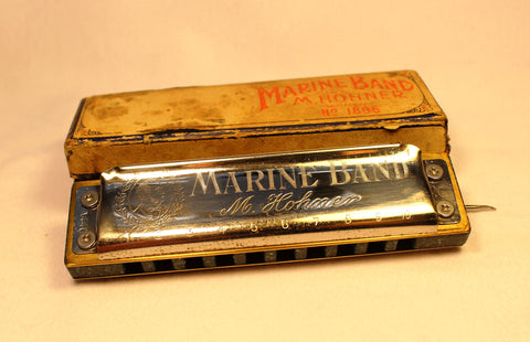 Pre-War Marine Band in C - Green Corian Comb