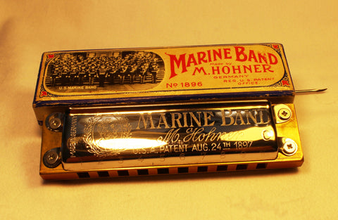 Pre-War Mouse Ear Marine Band in C - Original Pear Wood Comb
