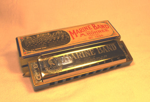 Pre-War Marine Band in C - Blue Corian Comb