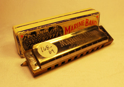 Sonny Terry Estate Harmonica - Marine Band #168-69  Key of C