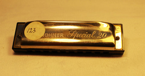 Sonny Terry Estate Harmonica - Special 20 #123  Key of C