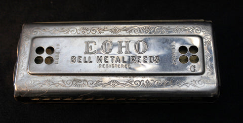 Sonny Terry Estate Harmonica - Hohner's Echo Tremelo - # 23  Key of C & G