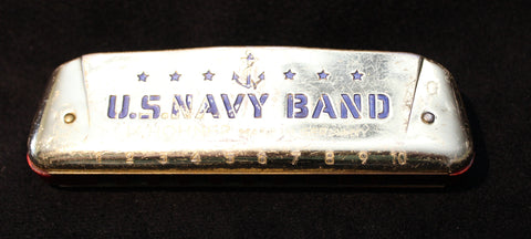 Sonny Terry Estate Harmonica - Unusual Hohner Navy Band / Golden Melody-  # 54-55  Key of G