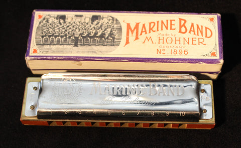 Sonny Terry Estate Harmonica - Hohner Marine Band  # 98-99   Key of F#