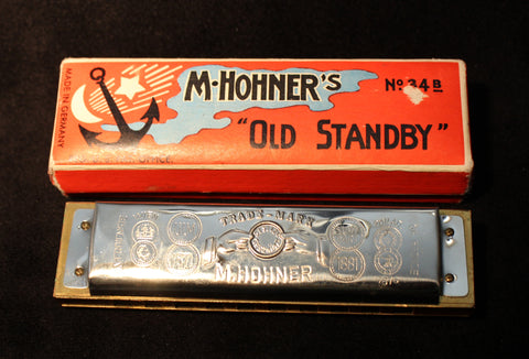Sonny Terry Estate Harmonica - Old Standby # 116-17  Key of Bb