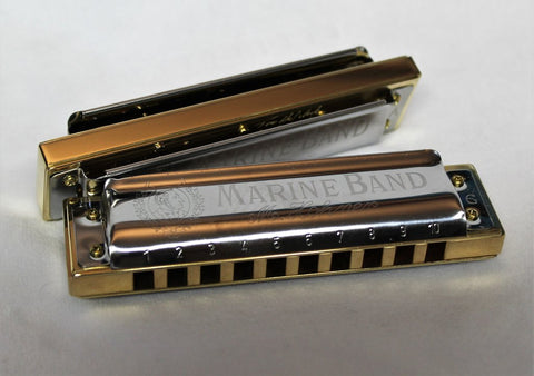 Built to Order Double Reed Plate Marine Band 1896 - Brass Comb