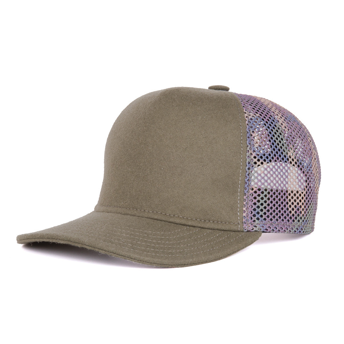 Faust Trucker Hat - Olive   Camo – Atelier Faust 90bd4265c0f