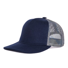 Faust Trucker Hat - Blue & light Camo