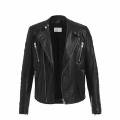 """The Dean"" Cafe Racer Jacket in Black"