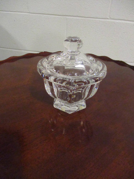 Baccarat jar with cover