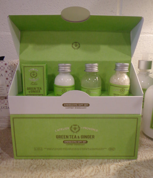 Gift set.4 Bath-soap/lotion/foam bath/sea salt Green Tea & Ginger