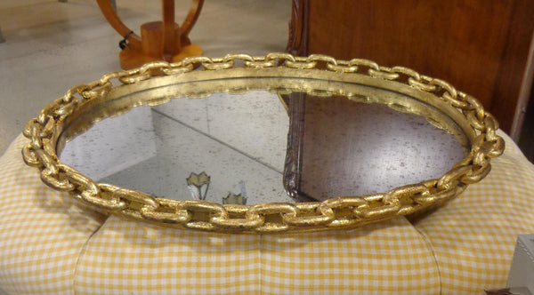 Tray mirror & chain style