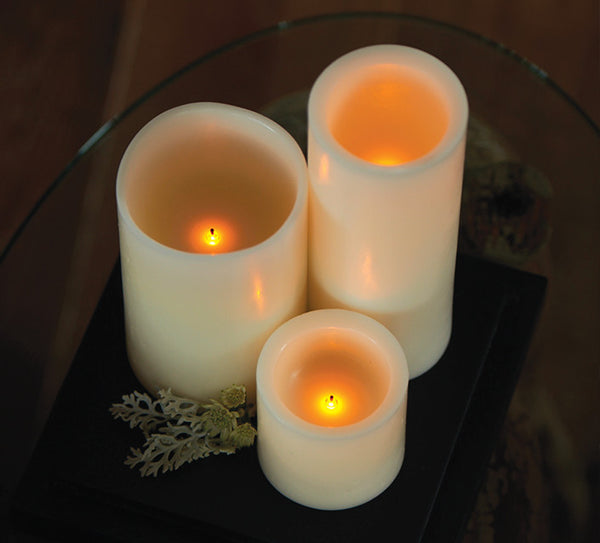 LED candles made of real hand-poured wax (2 Sizes)