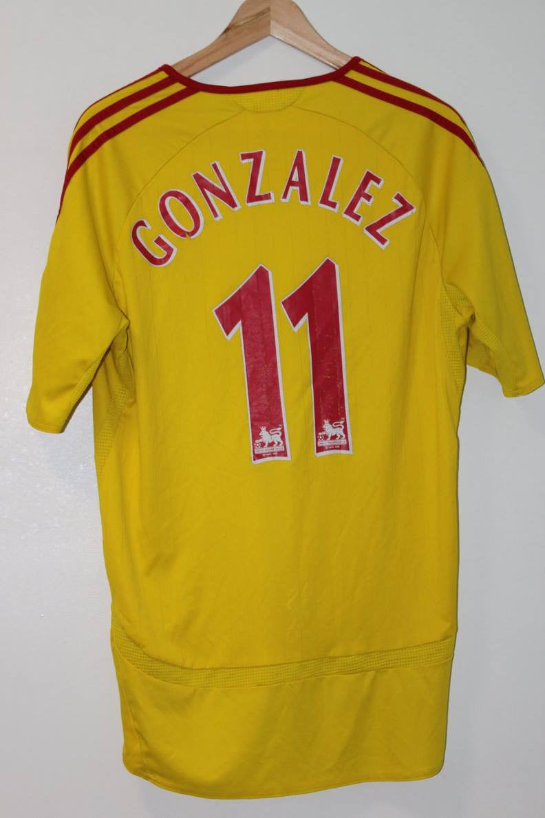 Liverpool 2006-2007 Away Shirt XL Maxi Rodriguez #11 Adidas