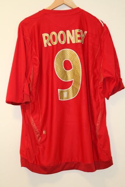England Euro 2006 XL Away Shirt Rooney 9 Umbro