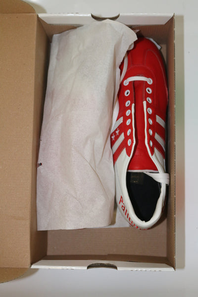 Pantofola D'oro Vitello White / Red  FG UK10 RRP £100 Deadstock BNIB
