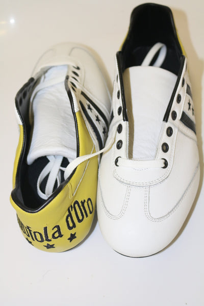 Pantofola D'oro Vitello White / Gold  FG UK9 RRP £100 Deadstock BNIB