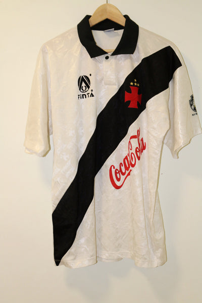 Vasco Da Gama 1989  Home Shirt Large Coca Cola Finta