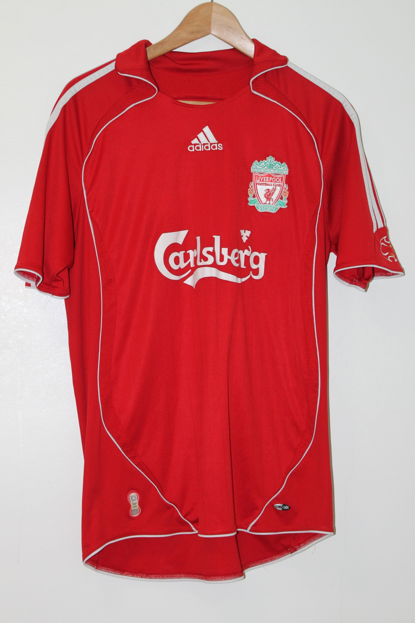 Liverpool 2007-2008 Home Shirt Medium Adidas
