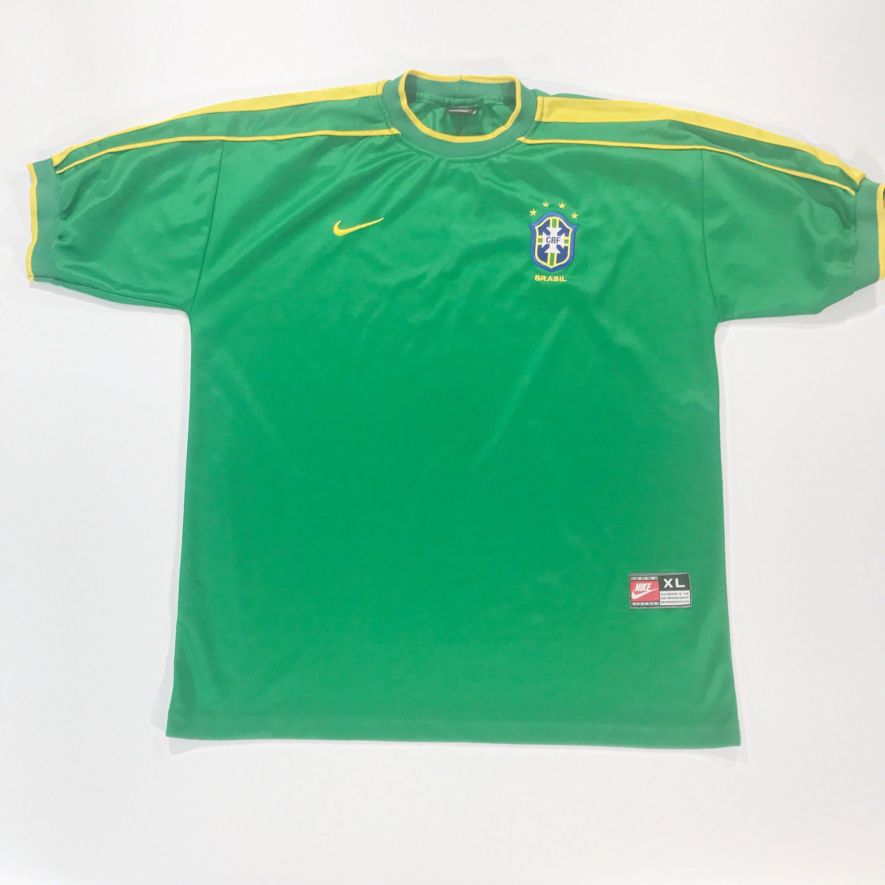 Brazil World  Cup 1998 GK Goal Keeper Shirt Shirt XL Nike