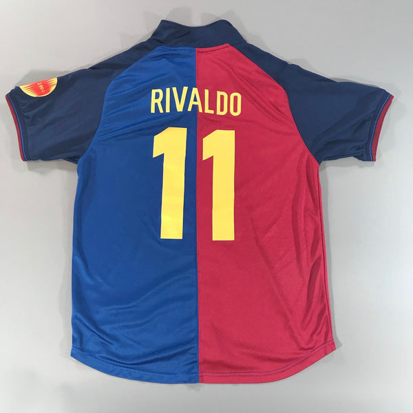 Barcelona 1999-2000 Home Shirt Large Rivaldo #11 Nike