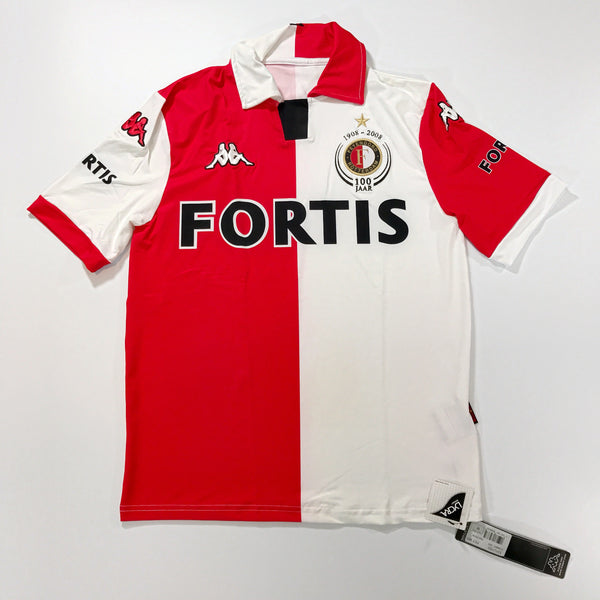 Feyenoord 2008-2009 Centenary Home Shirt BNWT Kappa Small