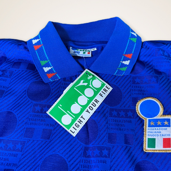 Italy USA 1994 Diadora home Shirt BNWT BNIB #10 Baggio Medium
