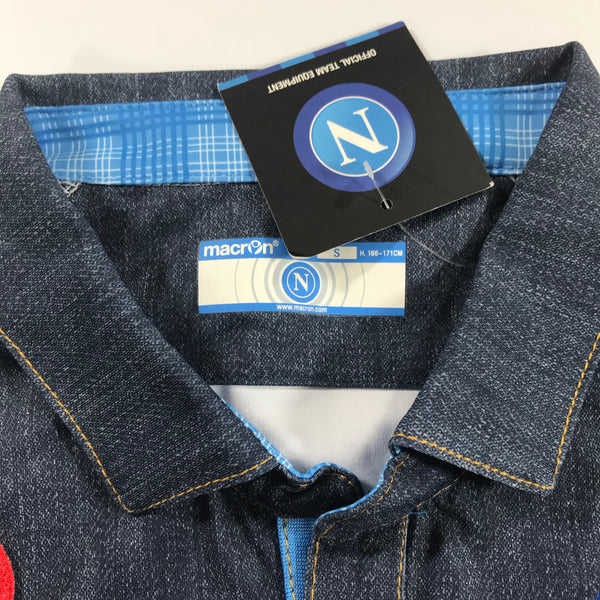 Napoli 2014-2015 Macron Away Denim Shirt Small BNWT
