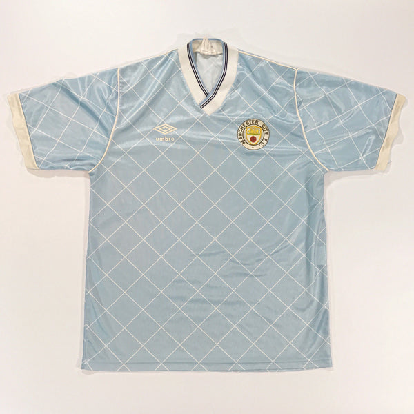 Manchester City 1988-1989 Home Shirt Small Umbro