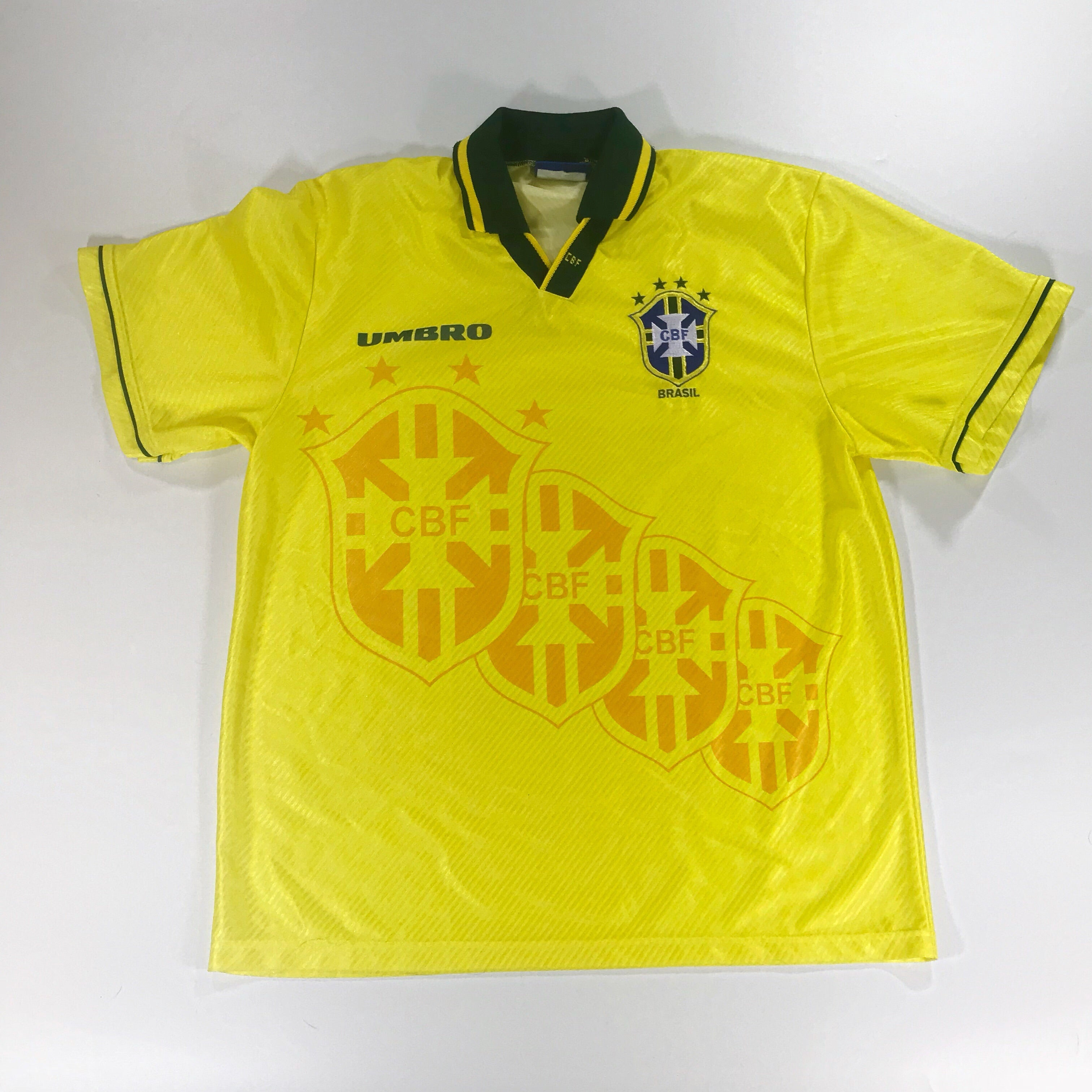 Brazil World Cup 1994 Umbro Home Shirt Large 1