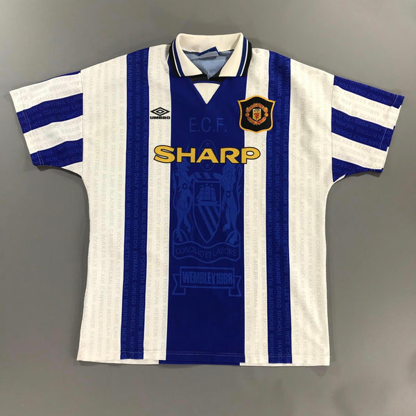 Manchester United 1994-1996 Away Shirt Large Umbro