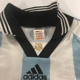 Argentina World Cup 1998 Home Shirt LARGEOrtega #10 Adidas