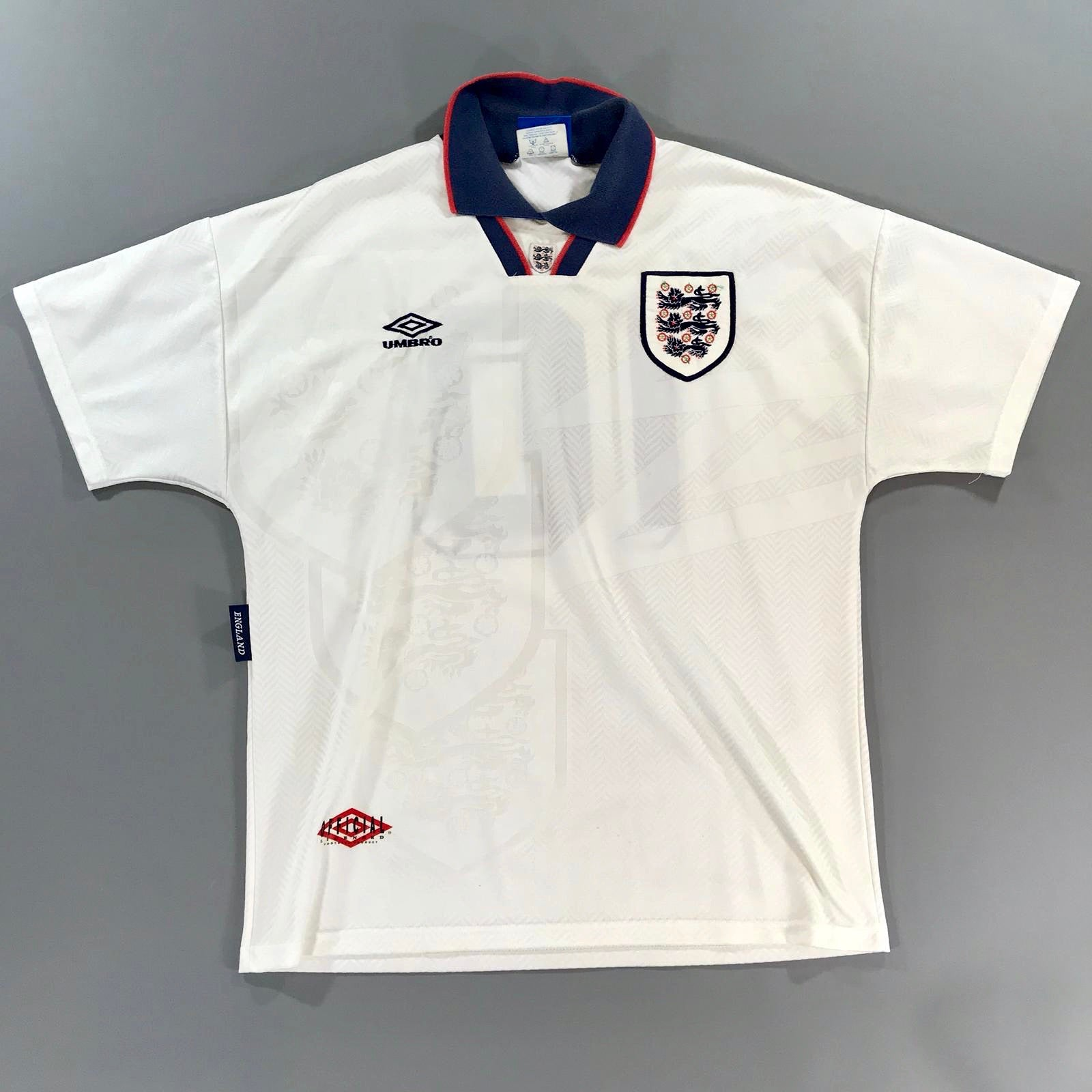 England 1993-1994 Home Shirt Large Umbro
